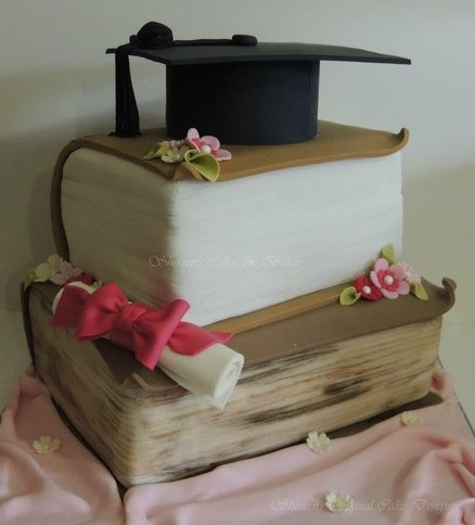': Graduation Idea, Graduation Cupcakes, Cake Ideas, Graduation Cakes Cupcakes, Cake Decorating Fondant, Book Cakes, Design Graduation, Reading Books Cake