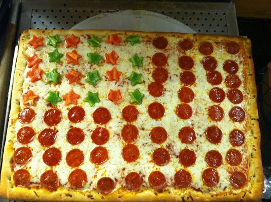 Fourth of July-Food ideas-Flag pizza | Holiday-Fourth of ...