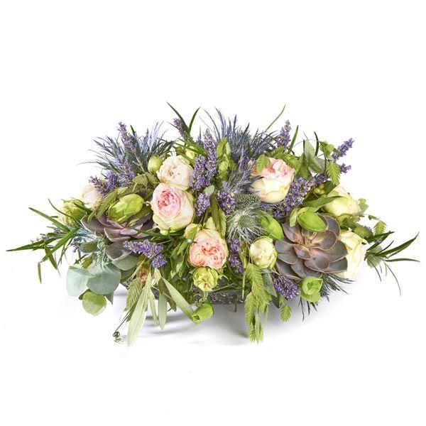 Graf Arrangement Seizoen.  Velen van u bezoeken met regelmaat een graf of een herdenkingsplaats van uw overleden dierbaren. Het is dan niet ongebruikelijk om bloemen of planten te plaatsen. Gemaakt door Afscheid met Bloemen.