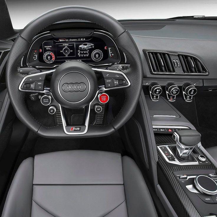 Audi R8 V10 Plus Coupé 2017 no Salão do Automóvel Marca alemã confirmou nesta quarta que vai exibir a segunda geração do superesportivo no @salaodoautomovel novembro em São Paulo. O bólido tem central-traseiro V10 5.2 FSI de 610 cv sistema quattro de tração integral e transmissão automática S tronic de sete velocidades . Acelera de 0 a 100 km/h é feita em apenas 32 segundos com velocidade máxima de 330 km/h. O R8 Coupé será vendido a partir de dezembro no Brasil. #CarroEsporteclube #Audi #R8…