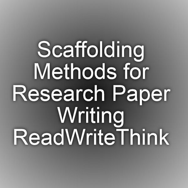 scaffolding research paper A summary of research exploring hard and soft scaffolding for teachers and students using a multimedia paper presented at the convention of the association for.