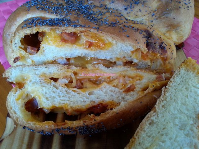 Foodie in Translation: Treccia sbilenca ripiena - Wonky braided bread