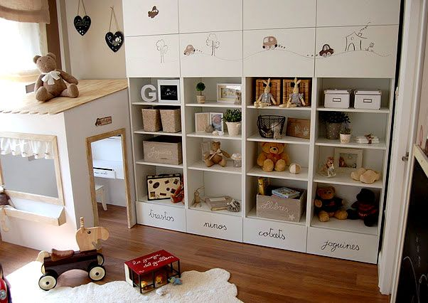Продуманный дизайн игровой зоны в детской