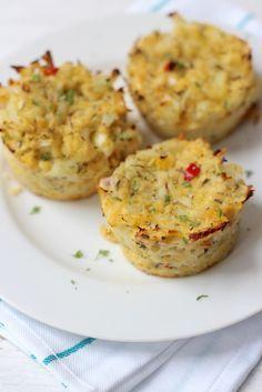 Bloemkooltaartjes uit de oven - Lekker en Simpel