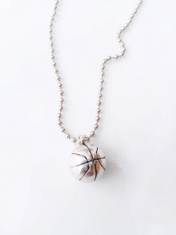 Basketball Jewelry for Girls   Basketball Necklace Sports Jewelry Silver Women Jewelry Teen Girl ...