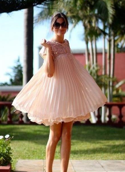 Плиссированное платье со скидкой