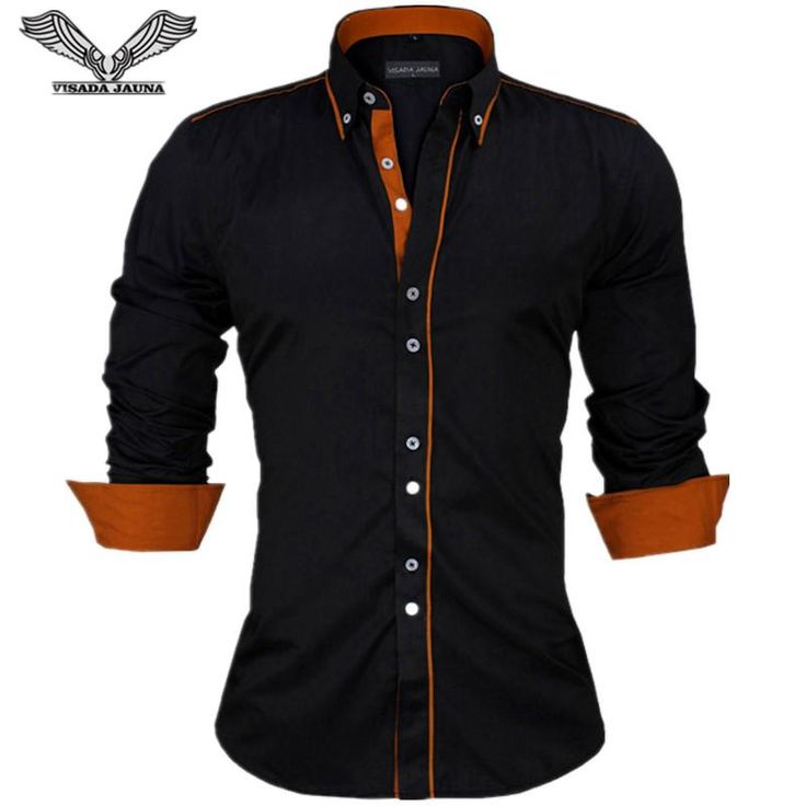 Men Shirts Europe Size New Arrivals Slim Fit