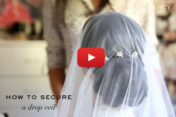 Video tutorial on how to secure a drop veil | Percy Handmade