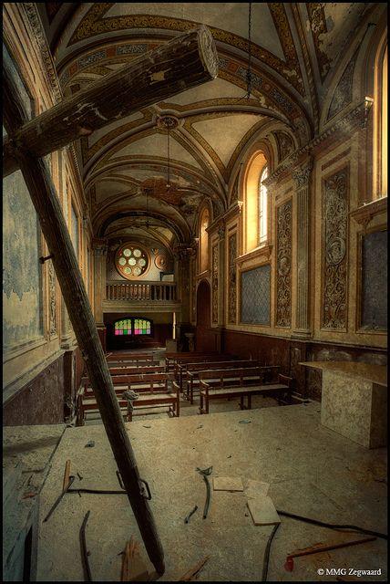 abandoned catholic school in Holland.