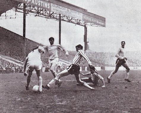 Man City 2 Grimsby Town 0 in Feb 1966 at Maine Road. City 's Mike Summerbee controls the ball in the FA Cup 4th Round.