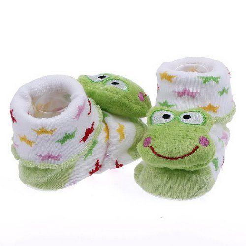 EOZY Zapatos Calcetines Para Bebé Niños Unisex Botines Caliente Diseño De Rana Verde