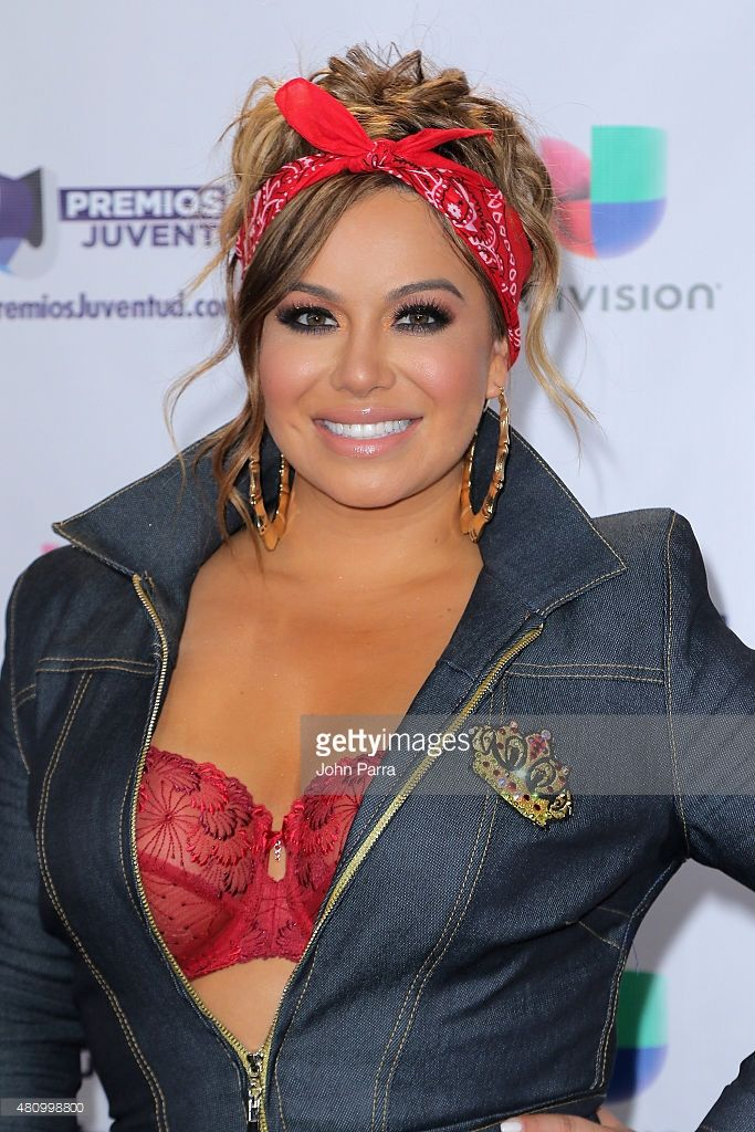 Chiquis Rivera attends Univision's Premios Juventud 2015 at Bank United Center on July 16, 2015 in Miami, Florida.