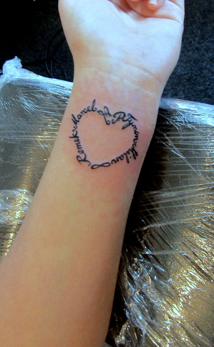 Childrens Names Tattoos For Women: Children Names Tattoo (With Images