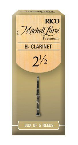 Mitchell Lurie Premium Bb Clarinet Reeds, Strength 2.5, 5-pack by Rico. $8.48. From the Manufacturer                Mitchell Lurie Premium reeds in strength 2.5 feature a thinner tip for easy response combined with a medium spine thickness for a warm sound with good resistance.Professionals and students alike benefit from the balance between the superb tone and ease of play of Mitchell Lurie reeds. Mitchell Lurie Premium Bb clarinet reeds are available in boxes of 5...