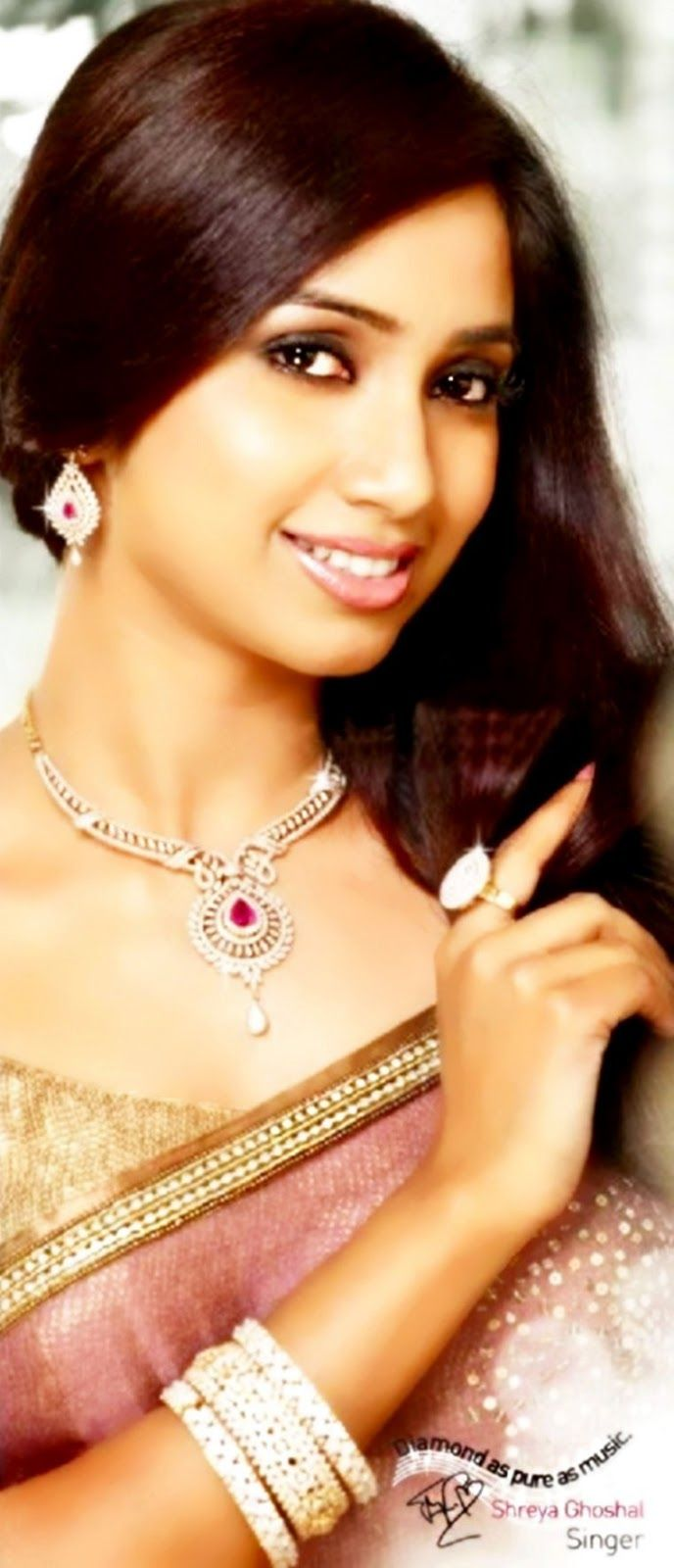 shreya ghoshal in a jewelry ad