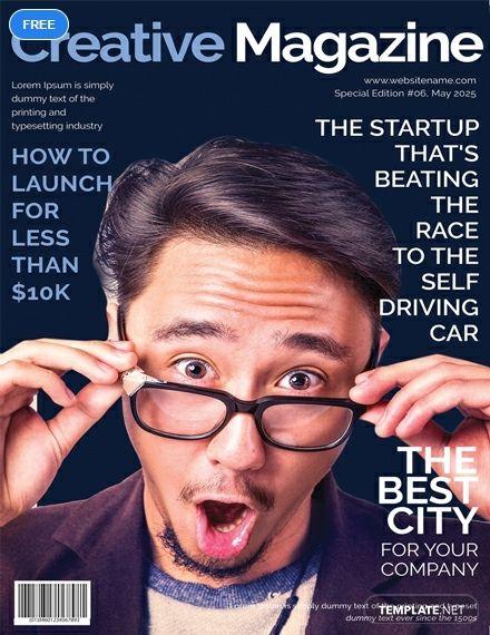 free creative magazine cover