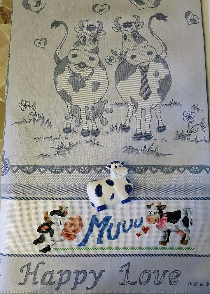 Strofinaccio con mucche Barbara69