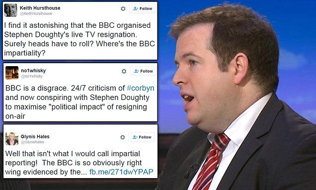BBC under fire for orchestrating on air resignation of shadow - resigning right