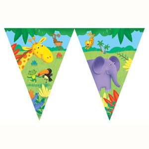 20290945 - Jungle Buddies Penant Jungle Buddies Flag Banner. Please note: approx. 14 day delivery time.