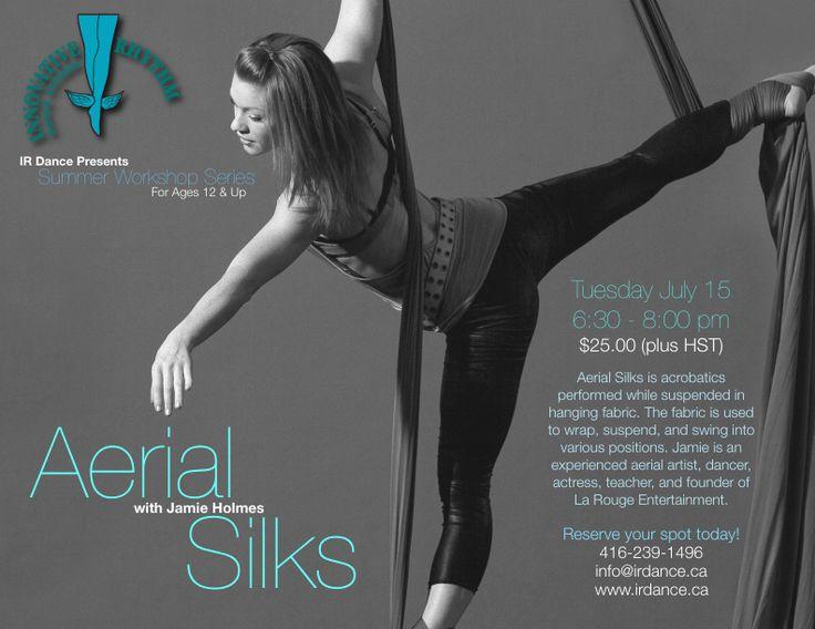 Aerial Silks Workshop!  An incredible opportunity at Innovative Rhythm Dance Studios, Toronto