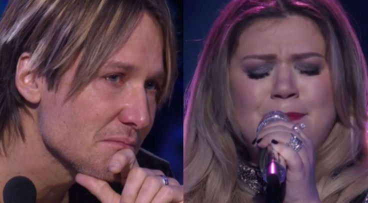 Kelly Clarkson returned to the American Idol stage last night with an emotional performance that left everyone in tears.