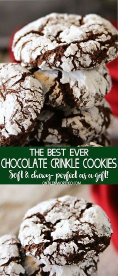 Easy Chocolate Crinkle Cookies are an easy & nostalgic Christmas cookie recipe t…