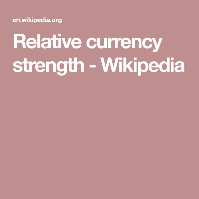 Relative currency strength - Wikipedia