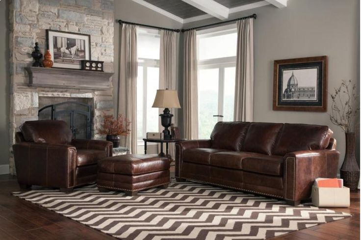 22910LEATHER in by Smith Brothers Furniture in Parma, OH - Sofa