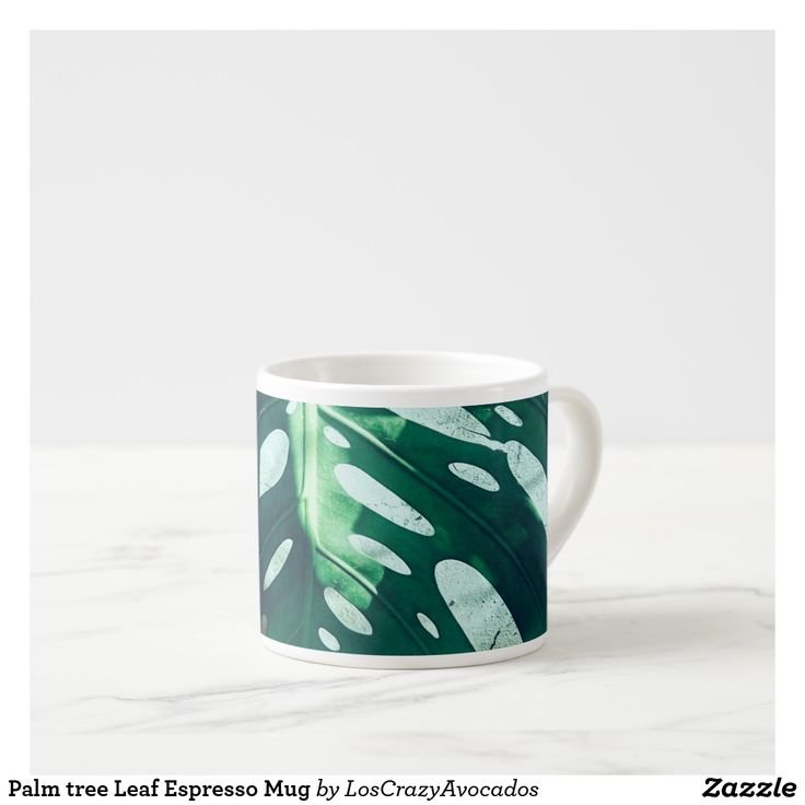 Palm tree Leaf Espresso Mug