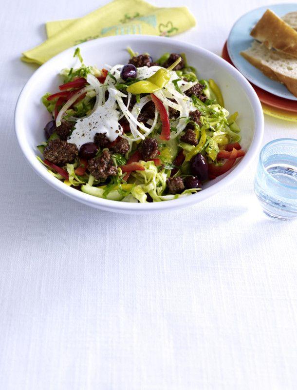 Unser beliebtes Rezept für Griechischer Krautsalat mit Gyroshack und mehr als 55.000 weitere kostenlose Rezepte auf LECKER.de.