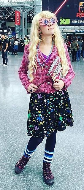 A pretty accurate Luna Lovegood Halloween costume
