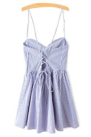 GET $50 NOW | Join RoseGal: Get YOUR $50 NOW!http://m.rosegal.com/mini-dresses/stylish-spaghetti-straps-sleeveless-fitting-striped-women-s-dress-595444.html?seid=n6qvs9au8qpnvjlm5c43nt3742rg595444