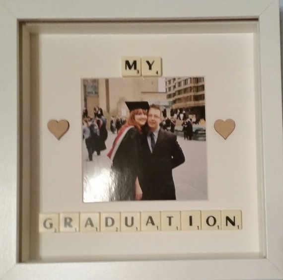 Graduation gift Scrabble Box frame art by treasuredmoments14