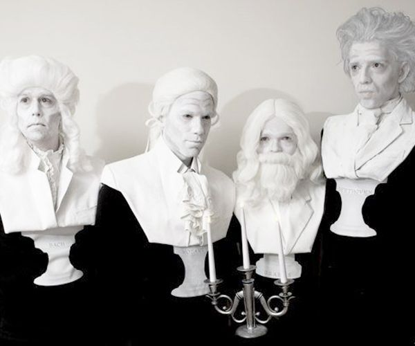 such a creative halloween group costume idea composer bust statue costumes by david and dors - Great Group Halloween Costume Ideas