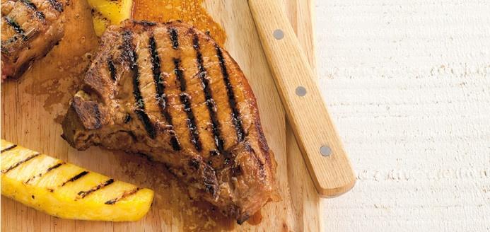 Côtelettes de porc barbecue à l'ananas Recettes | Ricardo