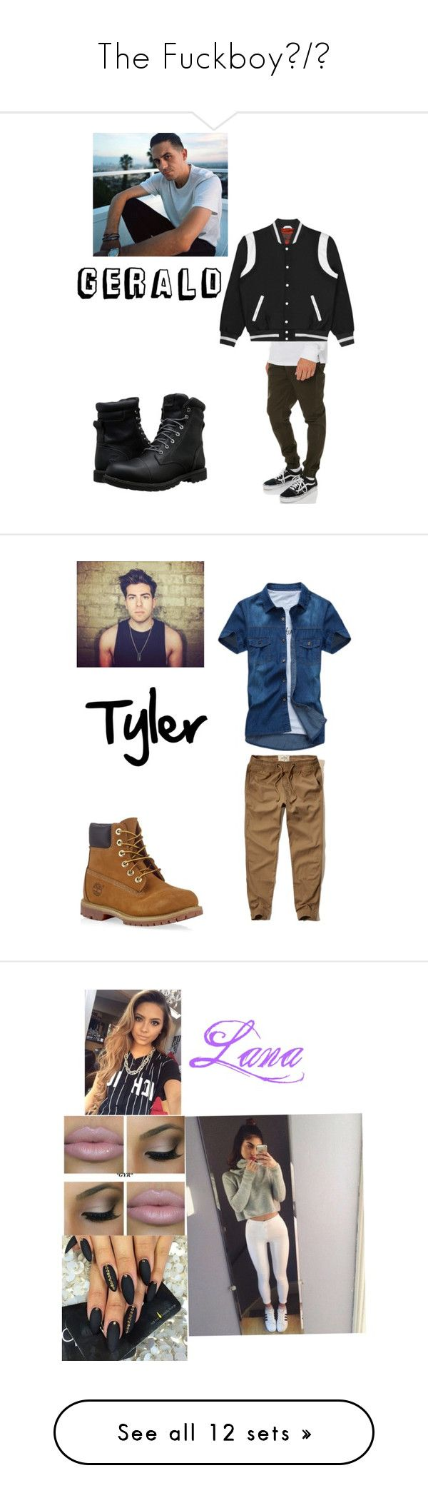 """""""The Fuckboy😈/😇"""" by gamergirl247 ❤ liked on Polyvore featuring Afends, Timberland, men's fashion, menswear, Hollister Co., tops, hoodies, hoodie top, sweatshirt hoodies and hooded sweatshirt"""