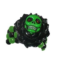 Kreepsville 666 skull rose bracelet blackDesign Inspiration, Rose Bracelets, 666 Skull, Skull Rose, Kreepsville 666, Bracelets Black