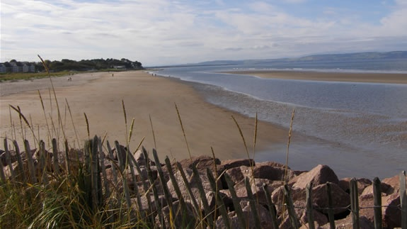 Nairn, Scotland (where I actually did go swimming, local thought I was crazy)