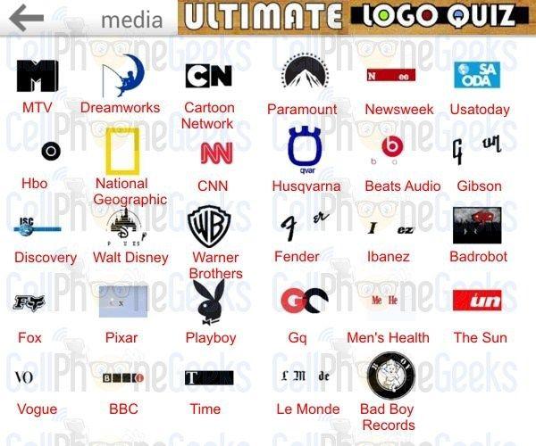 Logo Quiz Ultimate Media   Ultimate Logo Quiz Answers ...