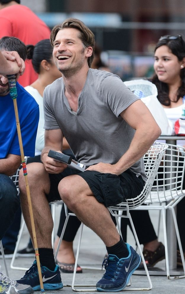 Have you ever seen a man look more handsome in sneakers and cargo shorts? (NO!!)   Nikolaj Coster-Waldau Is Actually Prince Charming In Real Life
