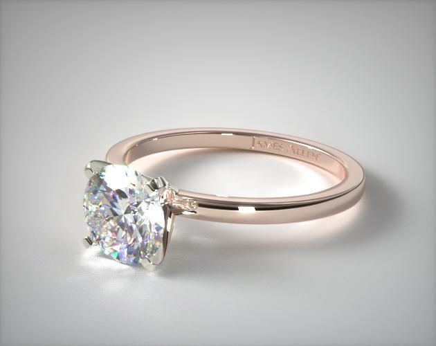 50380 engagement rings, solitaire, 14k rose gold 1.5mm comfort fit engagement ring item - Mobile