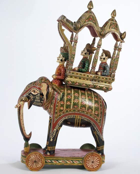 Vintage Tin Toy Indian Elephant with riders