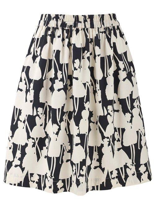 People Tree | Orla Kiely Monochrome Skirt