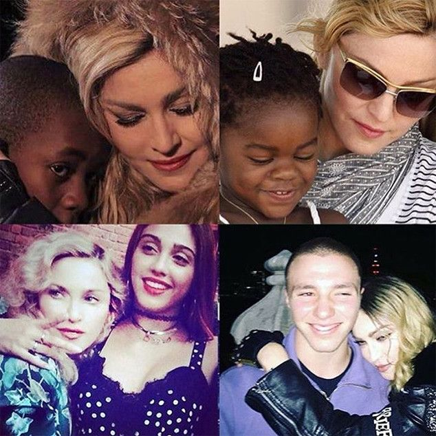 Madonna & Kids Rocco Ritchie, Lourdes Leon, David Banda & Mercy James…