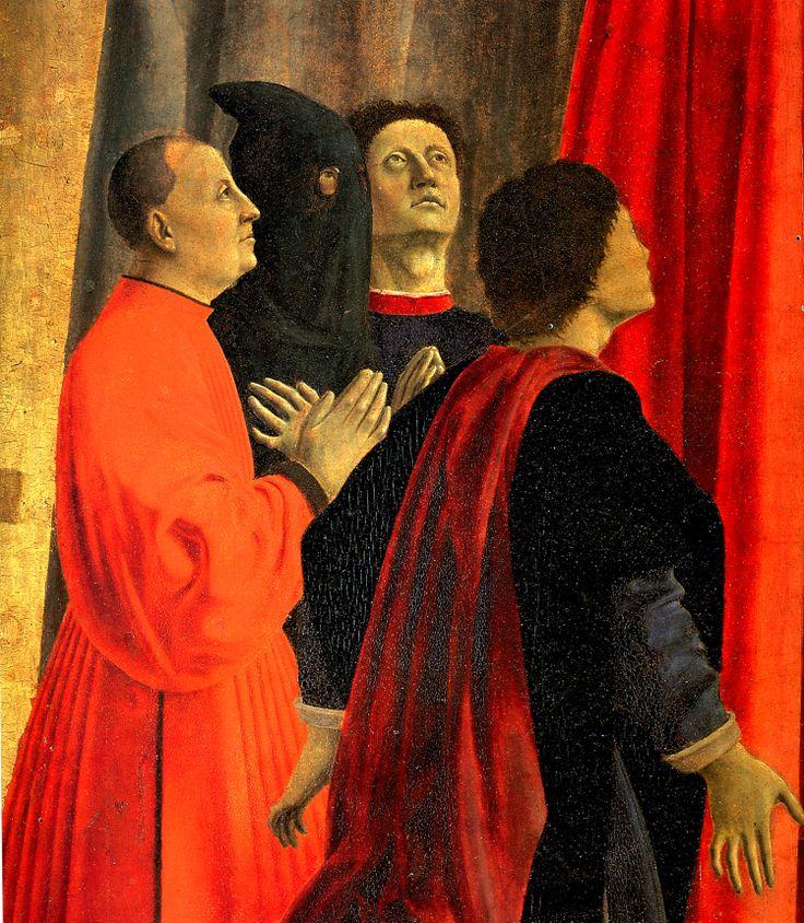 Piero della Francesca, Madonna della Misericordia, 1445-1462, olio su tavola. Museo Civico, Sansepolcro (dettaglio)