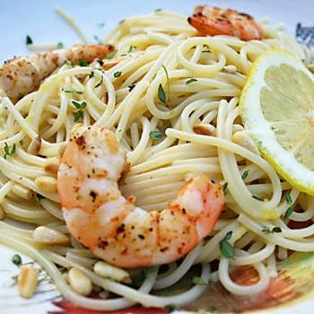 Lemon Pasta With Grilled Shrimp Recipe - Italian Food Forever