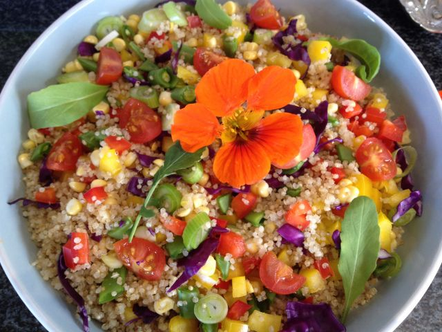 Raw Vegetable and Quinoa Salad