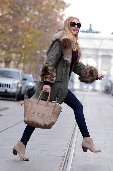 Best parka (by Chiara Ferragni) http://lookbook.nu/look/2827459-Best-parka