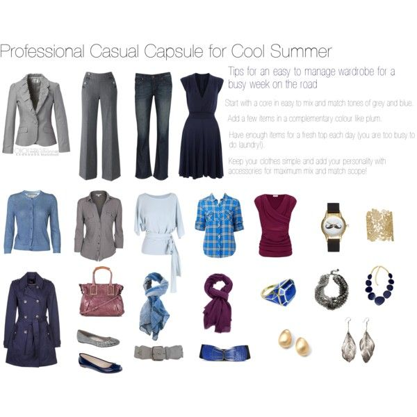 """Professional Casual Capsule for a Cool summer"" by nofailformula on Polyvore"