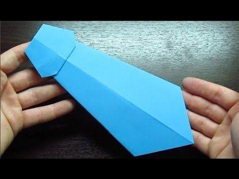 Como hacer una CORBATA DE PAPEL Super Cool | Origamis de papel paso a pa...